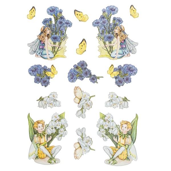 3-D Relief-Sticker, Elfenparadies 2, verschiedene Größen, selbstklebend