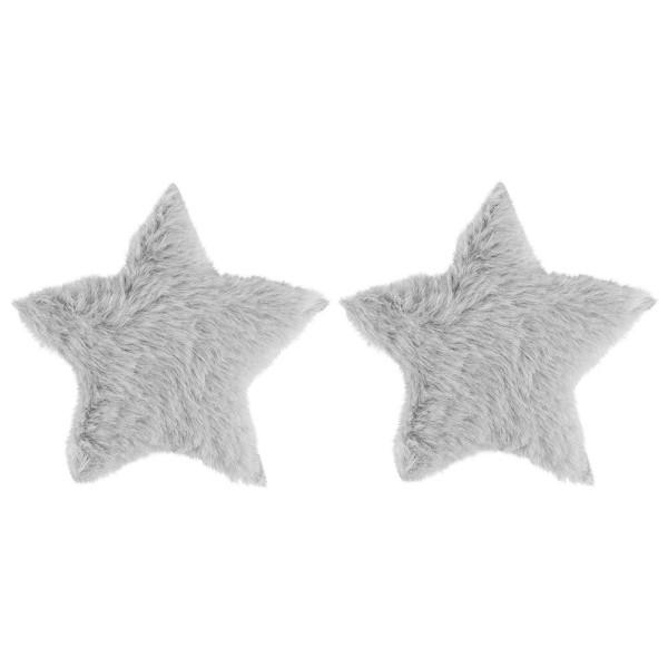 Fell-Sterne, Ø 11cm, taupe, 2 Stück