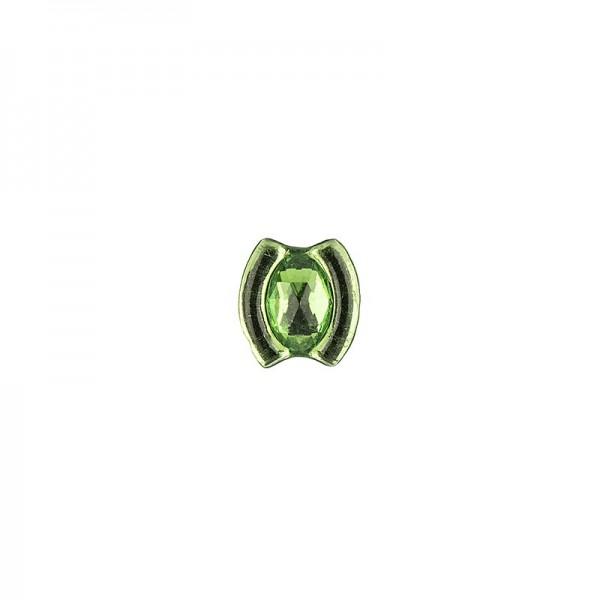 Ornament-Glitzersteine, 50 Stück, Design 10, grün