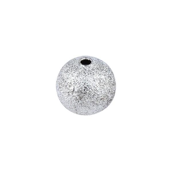 Perlen, Diamantiert, Ø1cm, silber, 46 Stück