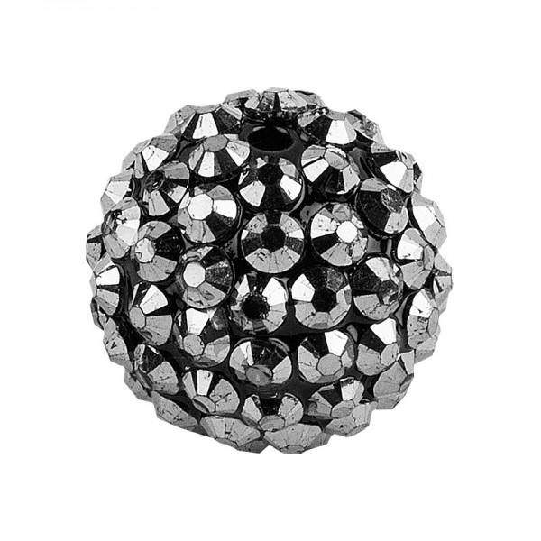 Kristall-Perlen, Ø 10mm, anthrazit, 10 Stück
