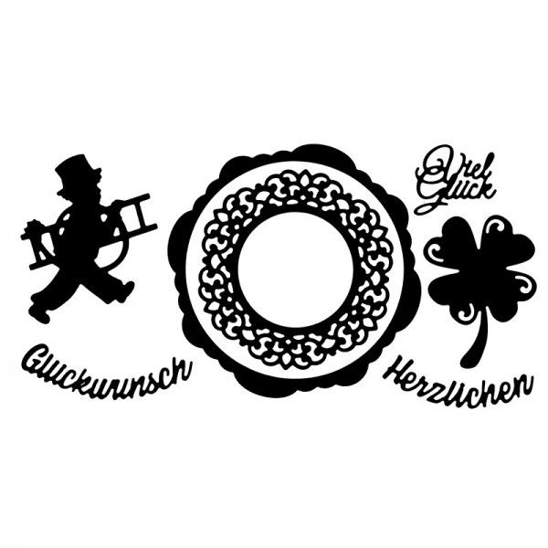 Stanzschablonen, Viel Glück, 7 Stück