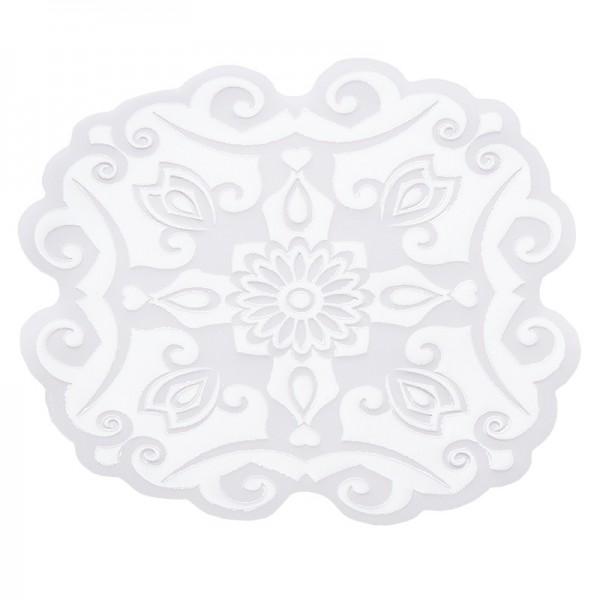 Noblesse Zierdeckchen 2, Transparentpapier, Ø 13cm, weiß, 20 Stück
