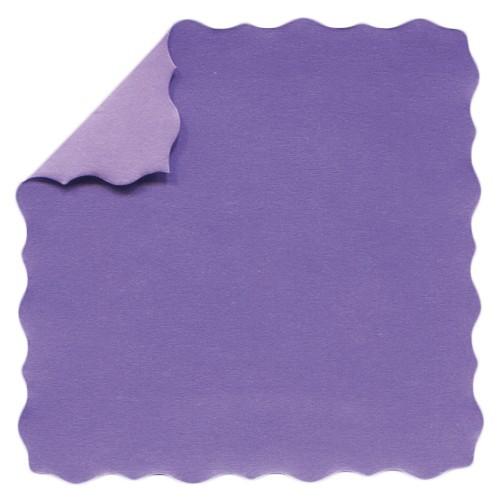 DuoColor Stanz-Faltpapiere, 5 x 5 cm, violett, Büttenrand, 200 Blatt