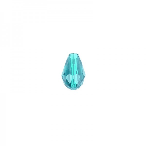Perlen, Tropfen, facettiert, 0,6cm x 0,8cm, türkisblau, 30 Stück