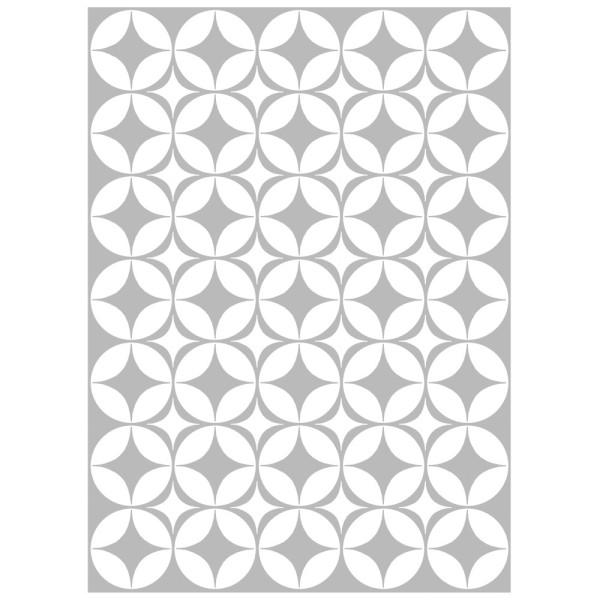 Metallic-Bügeltransfer, Hintergrund, Ornamente, 25cm x 34cm, silber glänzend
