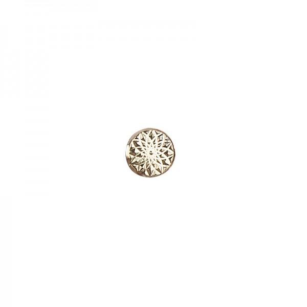 Hot-Fix Metallic-Relief-Nieten 3 zum Aufbügeln, Ø 6mm, gold, 100 Stück