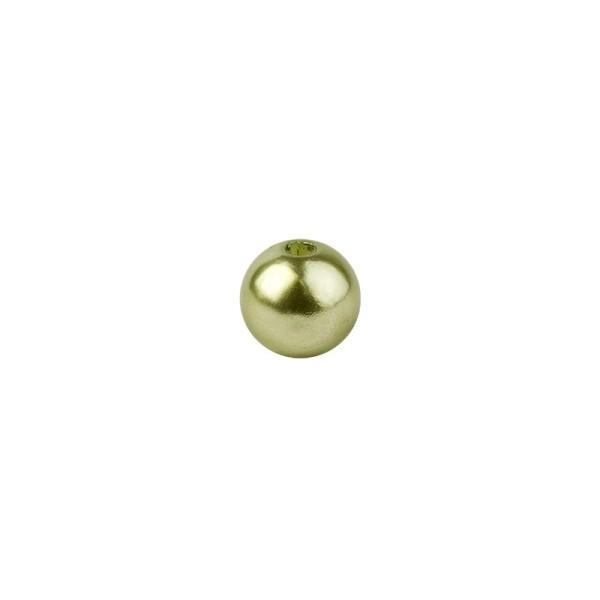 Perlen, Perlmutt, Ø 6mm, hellgrün, 150 Stück