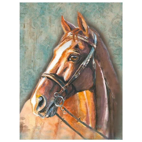 Diamond Painting, Pferd 3, 25cm x 35cm, Motivleinwand, runde Steinchen, inkl. Werkzeug