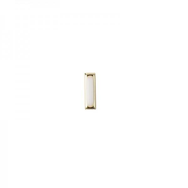 Hot-Fix Stäbchen-Nieten zum Aufbügeln, 2mm x 10mm, emailliert mit Goldrand, 100 Stück