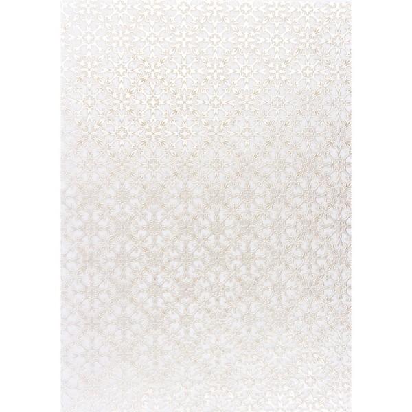 Transparentpapiere, Nova Noblesse 8, mit Top-Prägung & Perlmuttlack, DIN A4, 5 Bogen, braun