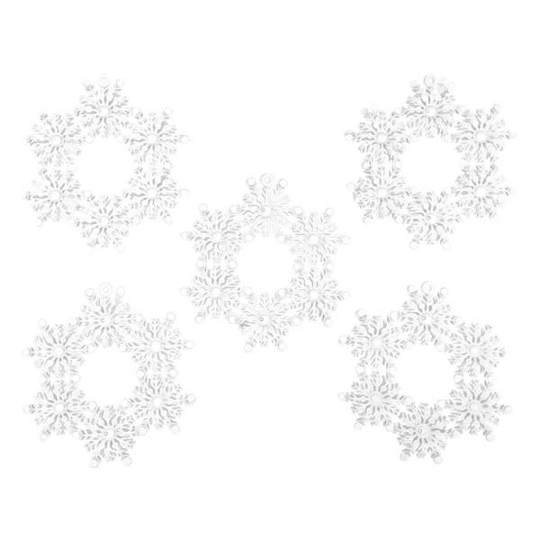 Deko-Eiskristalle 3, Rohlinge, Ø 14,2cm, 5 Stück