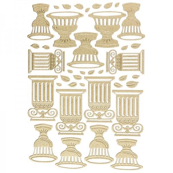 """3-D Sticker """"Deluxe Amphoren & Säulen"""", verschiedene Größen, selbstklebend, gold"""