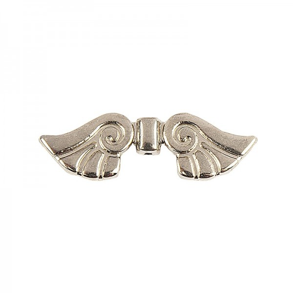 Engelsflügel, Design 2, 2,3cm, hellgold, 20 Stück