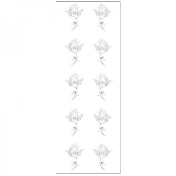 Kristallkunst, Rose, selbstklebend, 10cm x 30cm, klar