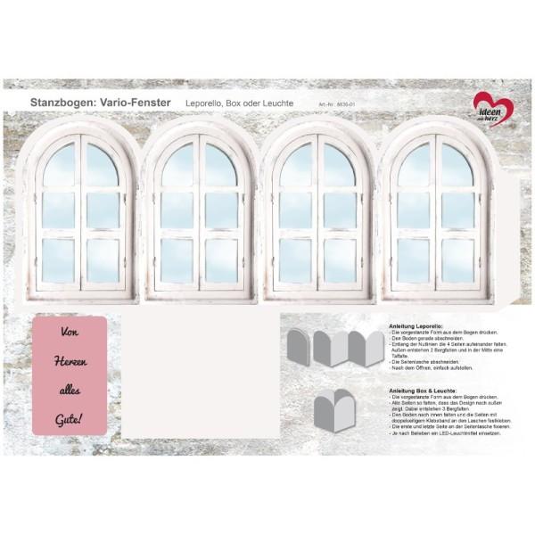 Stanzbogen, Vario-Fenster, DIN A4, Design 1