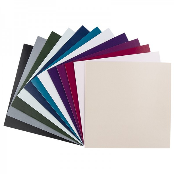 Grußkarten, 16x16cm, 12 Farben