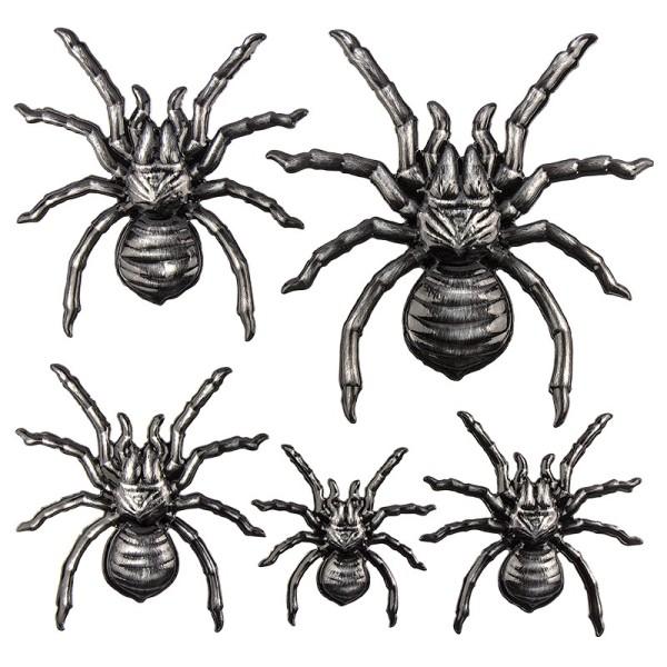 Relief-Sticker in Metallic-Optik, Spinnen, 18x17,5cm