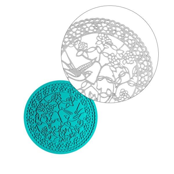 Silikon-Dekormatte, Design 25, Ø 12,7cm x 0,3cm