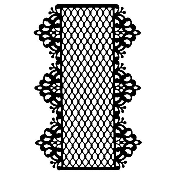 Stanzschablone, Zierdeckchen 8, 14cm x 9,4cm