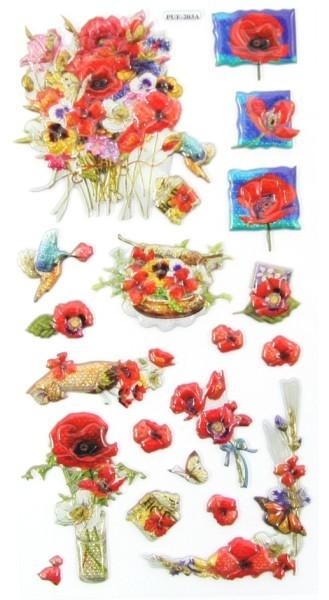 Relief-Sticker, Traumhafte Blütenwelt, 17,5x9cm, Design 4