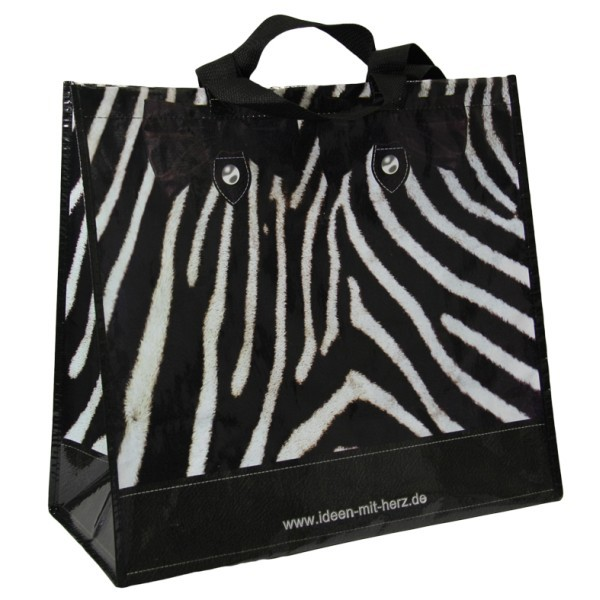 Jumbo-Tasche Zebra-Optik, 45 x 40 x 20 cm
