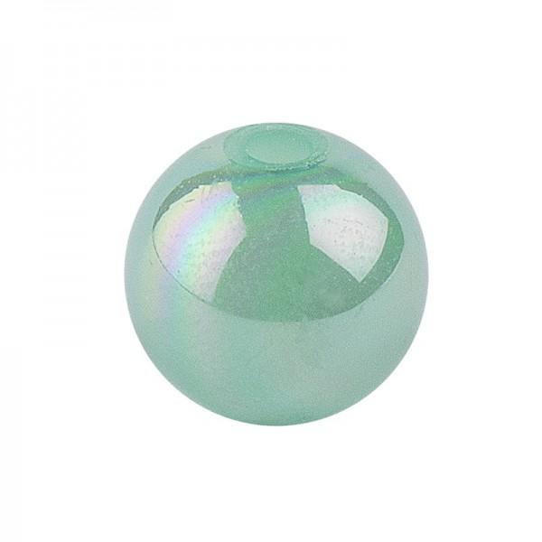 Perlen, irisierend, Ø 8mm, grün-irisierend, 100 Stk.