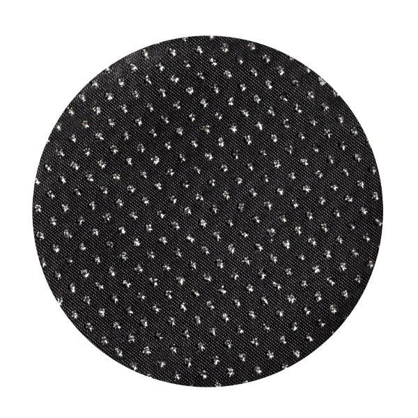 Satin-Kreise, Ø8cm, 50 Stück, Glitzer-Perlen, schwarz