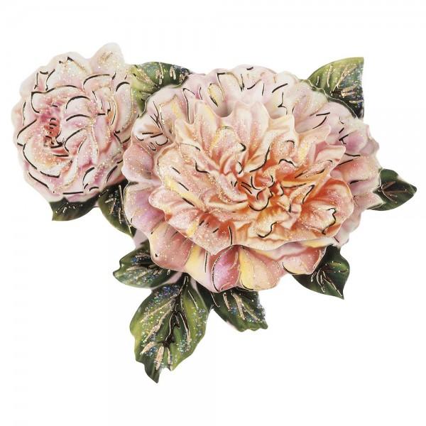 3-D Motiv, Chrysantheme, Gold-Gravur & Glimmerlack, 8cm