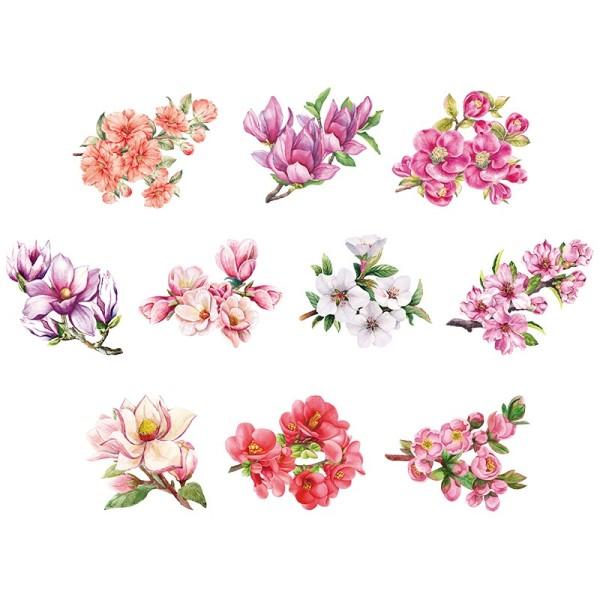 3-D Motive, Frühjahrsblütenzweige, 7,5-10cm, 10 Motive