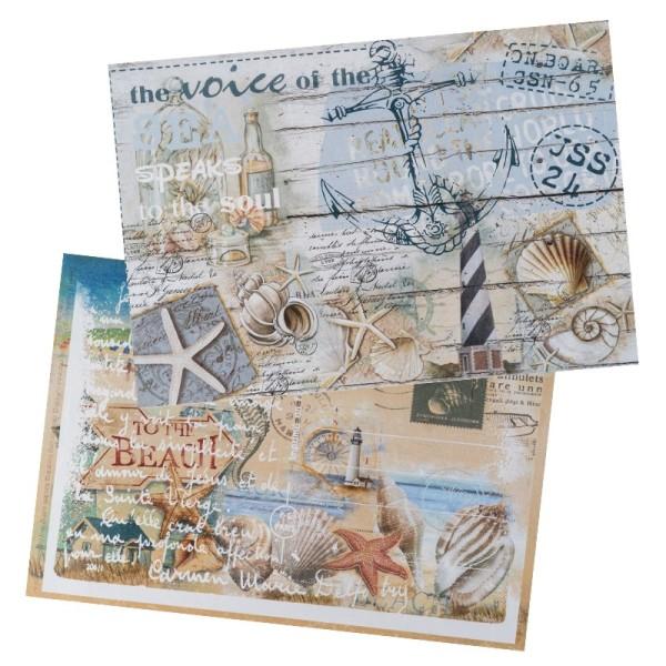 Reispapiere, Nostalgie 7, DIN A4, 2 Designs