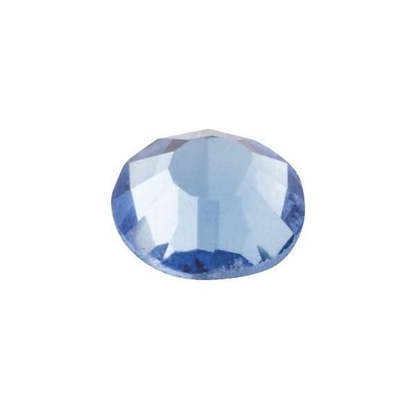 Hot-Fix Glas-Kristalle zum Aufbügeln, Ø5mm, 150 Stk., saphir