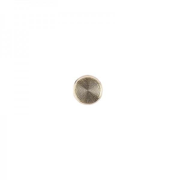 Hot-Fix Metallic-Relief-Nieten 2 zum Aufbügeln, Ø 6mm, gold, 100 Stück