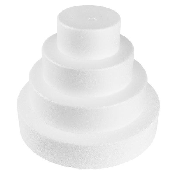 Styropor-Torte, 4 Styropor-Podeste, Ø25 cm, Ø20 cm, Ø15 cm, Ø10 cm