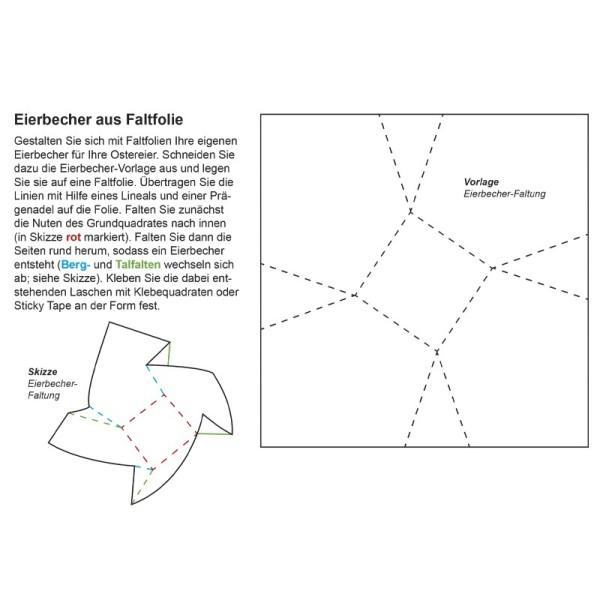 Vorlagebogen Eierbecher-Faltung, DIN A5
