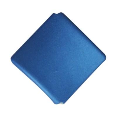 Soft-Touch-Perle, gewölbte Raute, 2,8 cm, 10 Stück, petrol