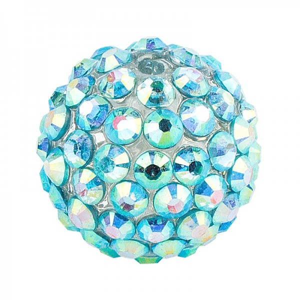 Kristall-Perlen, Ø 14mm, mint-irisierend, 10 Stück