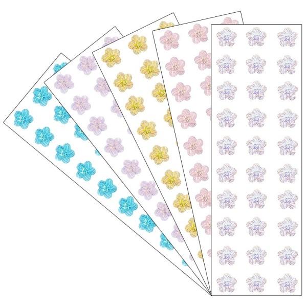 Kristallkunst, Schmuckstein Blüte 1, 10cm x 30cm, selbstklebend, verschiedene Farben, 5 Stück