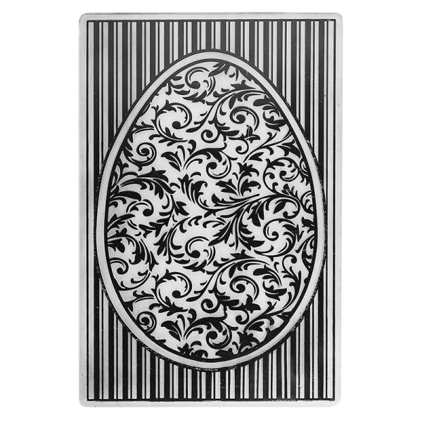 Prägeschablone, Osterei 1, 14,5cm x 9,5cm
