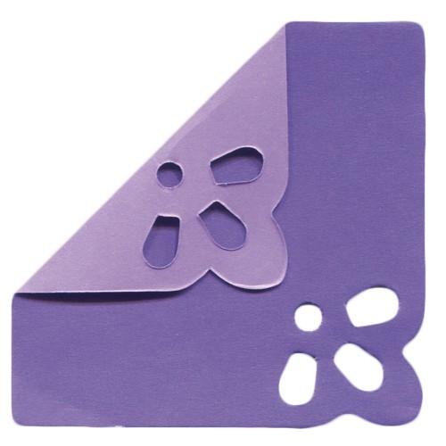 DuoColor Stanz-Faltpapiere, 5 x 5 cm, violett, 2 Ecken, 200 Blatt