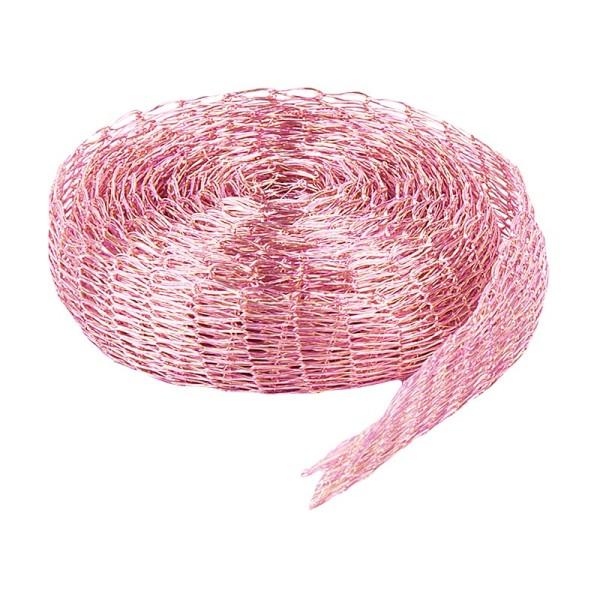 Titan-Mesh Collier-Band, 1 cm x 1 m, rosa
