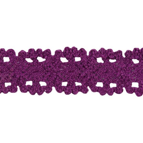 Häkelspitze Design 10, 3,2cm breit, 2m lang, aubergine
