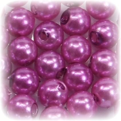 Perlen, rund, Ø6 mm, hellviolett, 50 Stück