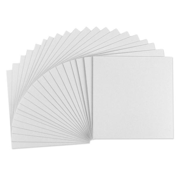 Grußkarten weiß, 215g/m², genutet, 16x16cm, 20 Stück