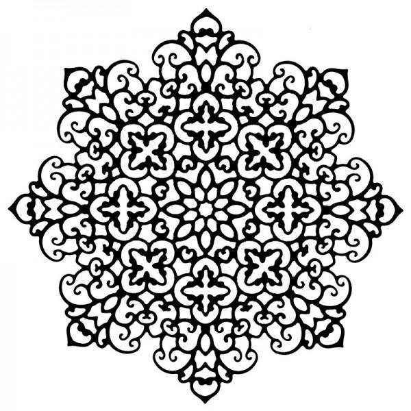 Stanzschablone, Zierdeckchen 3, 14cm x 14cm