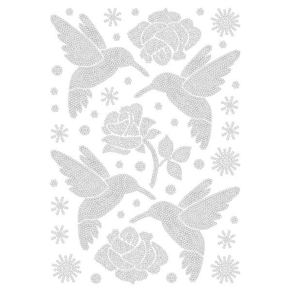 Bügelstrass-Design, DIN A4, klar, Kolibris