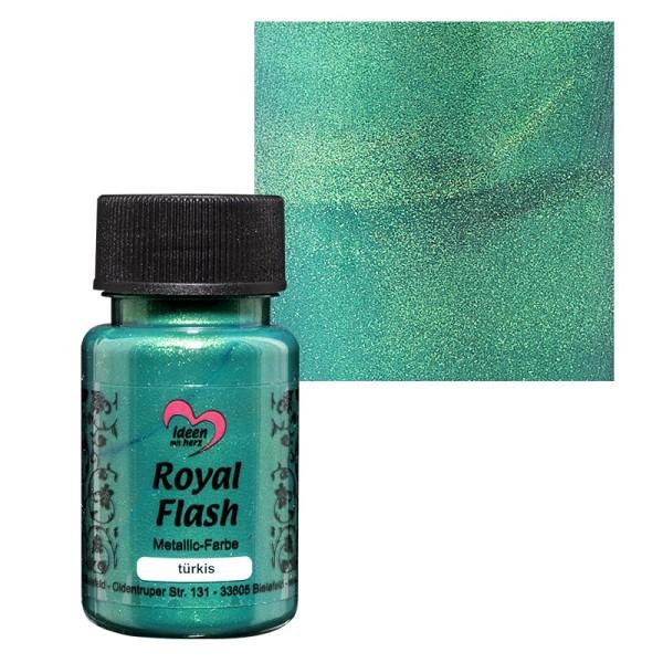 "Metallic-Farbe ""Royal Flash"", türkis, 50 ml"