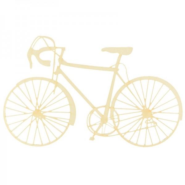Laser-Elemente, Fahrräder 1, 14,7cm x 9cm, cremefarben, 5 Stück