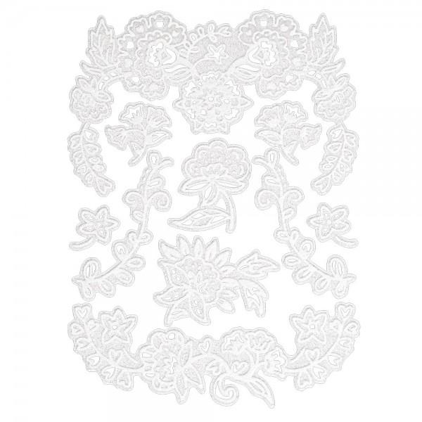 Velours-Stickerbogen, 15cm x 11cm, Ornamentik, Design 1