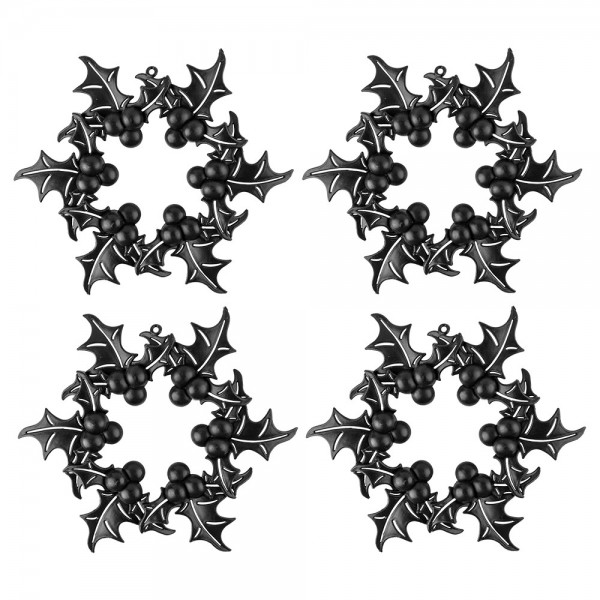 Deko-Ilex-Kränze, Rohlinge, Ø 18cm x 1cm, mit Öse zum Aufhängen, 4 Stück